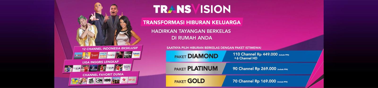 Paket dan Channel Transvision Terbaru