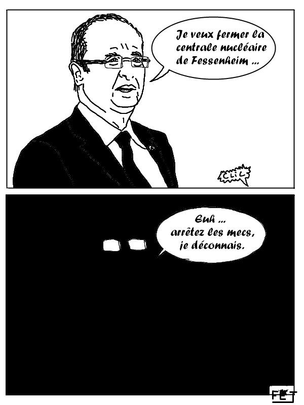Hollande veut fermer la centrale nucléaire de Fessenheim