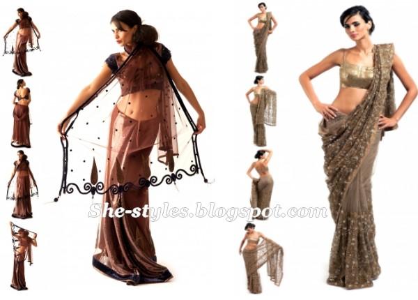 House Of Raaj Eid Sarees 2012 Party Wear Saree Saree Blouse 2012 New Fashion Lifestyles