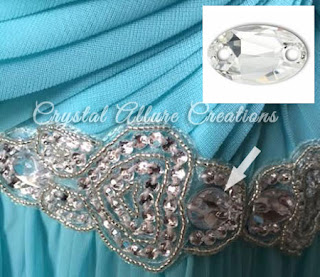 Close Up of Detail in City Triangles Prom Dress. Photo credit: Crystal Allure Jewelry Creations