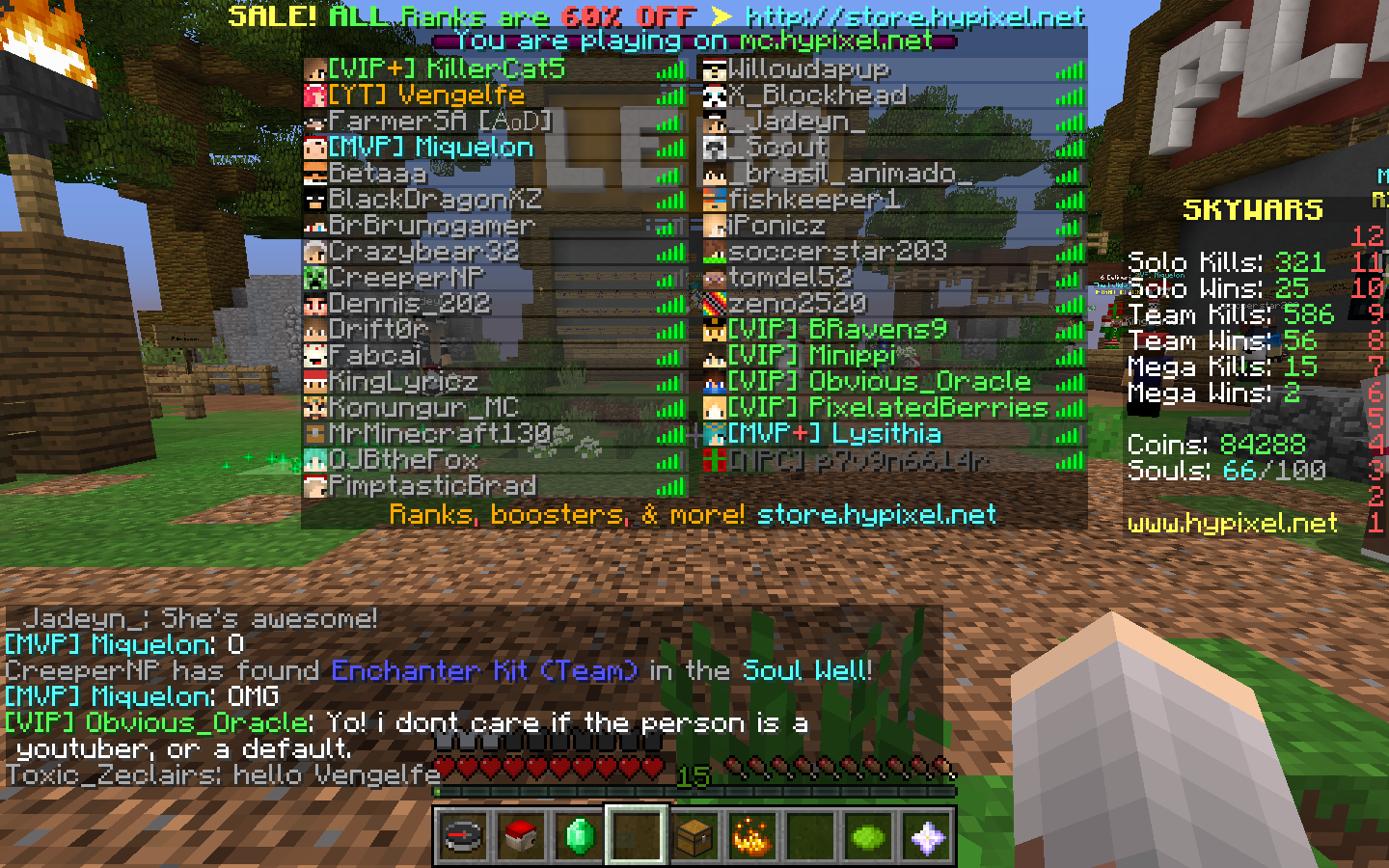 Cookie's Blog ♥ : I FOUND VENGELFE ON HYPIXEL :D