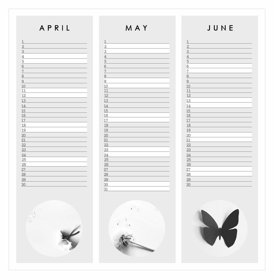 free home printable calendar 2015 graphic design grey april may june