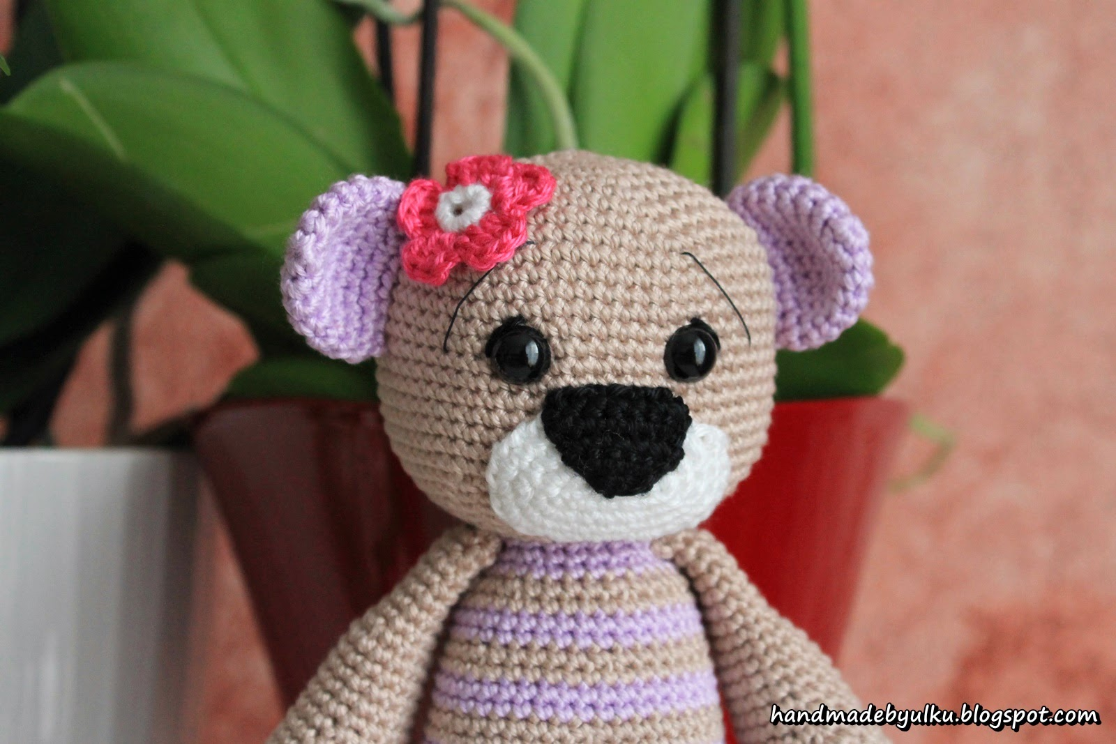 handmade by lk amigurumi teddy b r bear ayicik. Black Bedroom Furniture Sets. Home Design Ideas