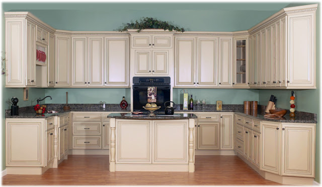 Kitchen cabinets home decorating for Antique painting kitchen cabinets ideas