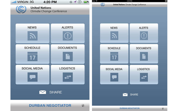 "UNFCCC, App Store – ""Negotiator"", UN reveal official iPhone/iPad apps for COP 17, hotel negotiator, price line, price line negotiator, priceline negotiator, short sale negotiator, the negotiator game"