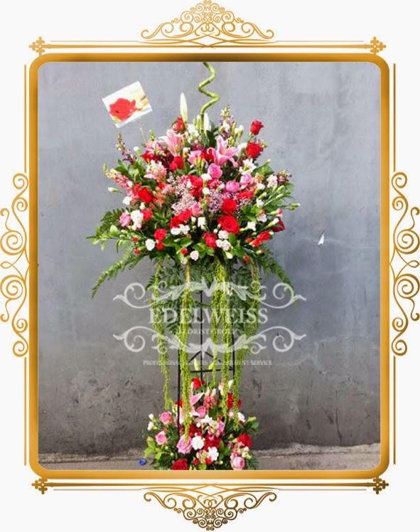 standing bunga ucapan selamat congratulations & pernikahan
