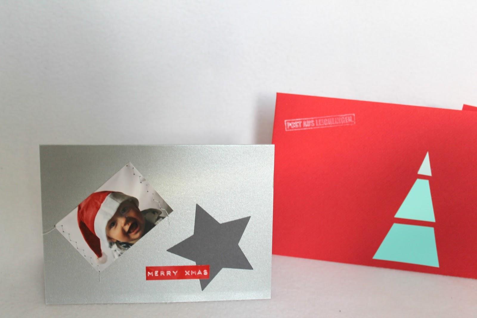 Weihnachtskarten Naehmaschine