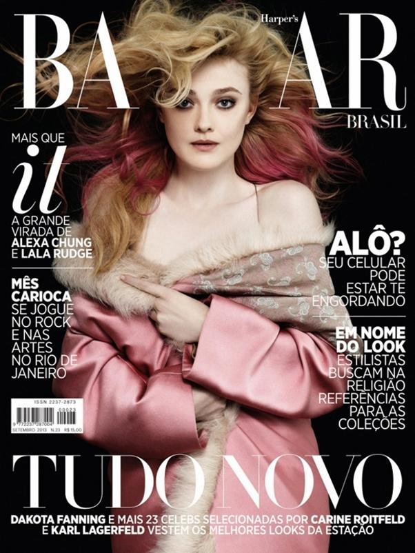 Revista Harper's Bazaar Setembro 2013 Brasil Dakota Fanning