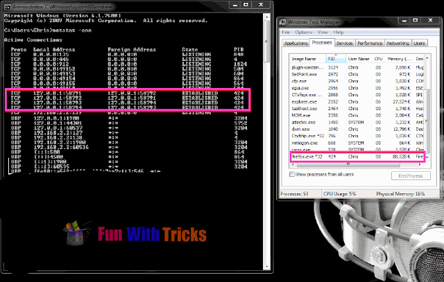Find Viruses Using Windows Netstat Feature_FunWidTricks.Com