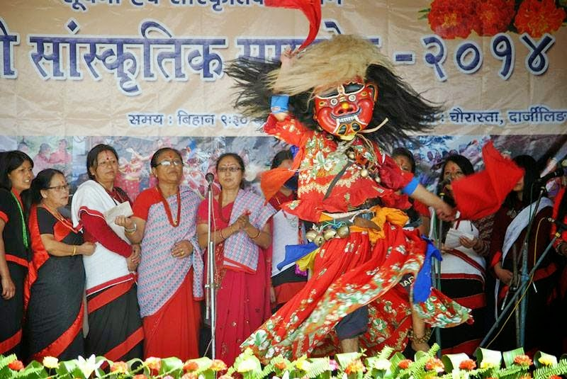 Phulpati - Fulpati celebration  2014 Darjeeling