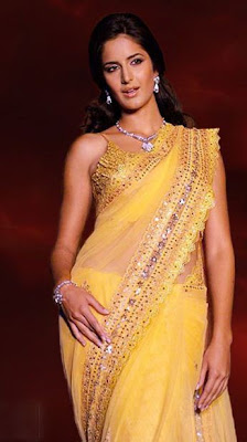 Katrina Kaif In Yellow Saree
