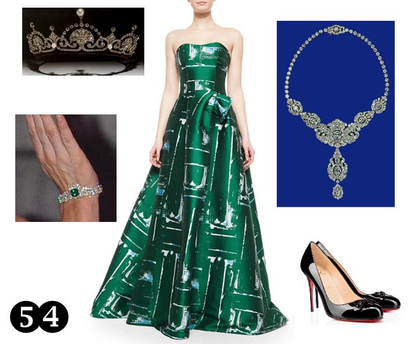 L k bennett gold dress party