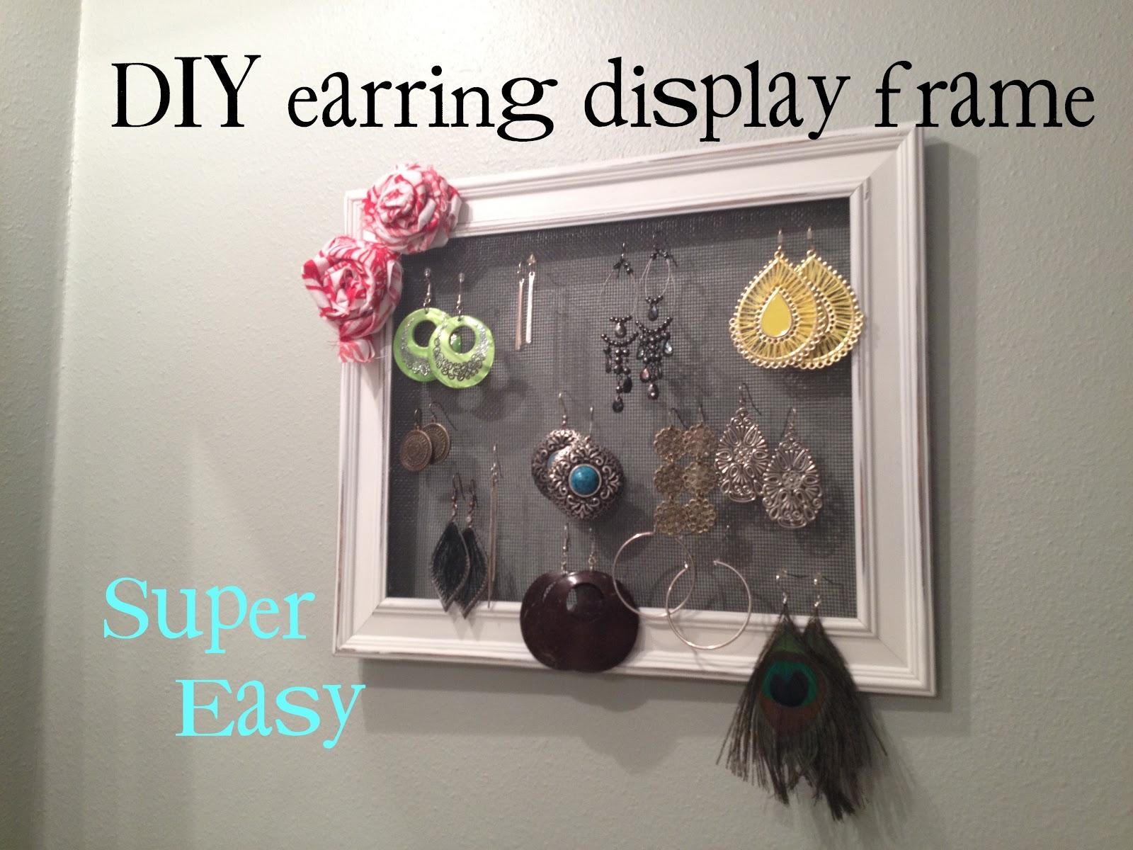 Spring Time Treats: DIY Earring Display Frame