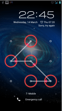 mobile, adroid, . Pattern Lock Problems