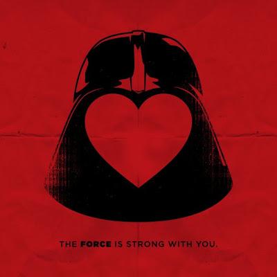 Отличная валентинка с имперским штурмовиком и Дартом Вейдером star wars valentine