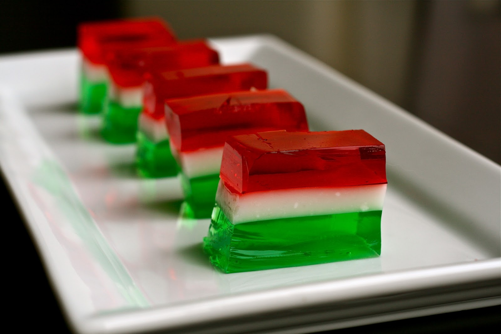 Jello shots with fruit inside - Saturday December 10 2011