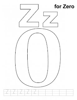 Letter Zz printable coloring pages