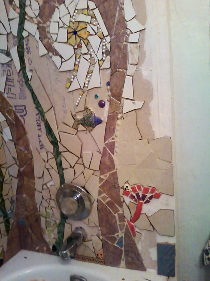 Diederich Trash Craft: Mosaic Tile Shower