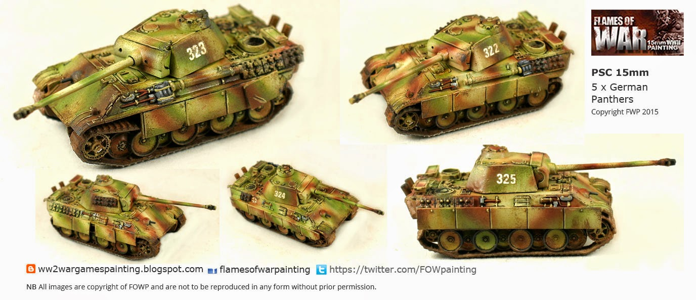 15mm German Panther Tank Plastic Solider Company