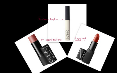 NARS 2011 Holiday Collection Swatches G spot Multiple Lipstick Joyous Red Lipgloss Albatross