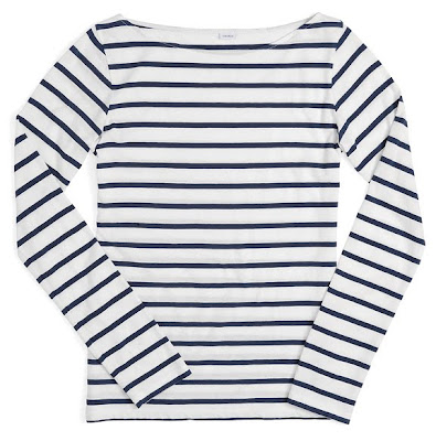 Classic wardrobe pieces tops breton boatneck top for Striped french sailor shirt