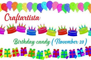 Birthday candy  / Δώρο έκπληξη για τα γενέθλιά της Μία (20 Νοεμβρίου)