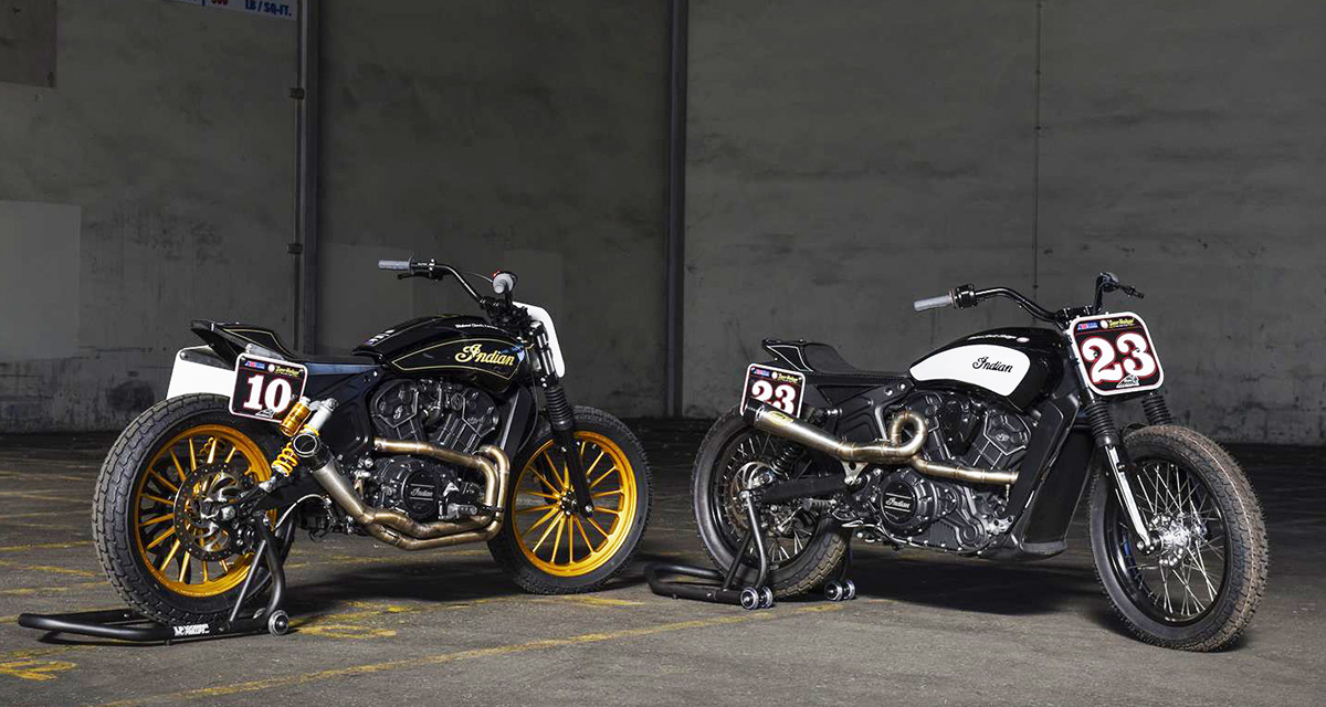 Racing Caf U00e8  Indian Scout Sixty Flat Trackers By Roland Sands