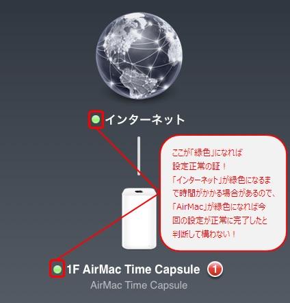 Time Capsuleが緑色になっていればOK!