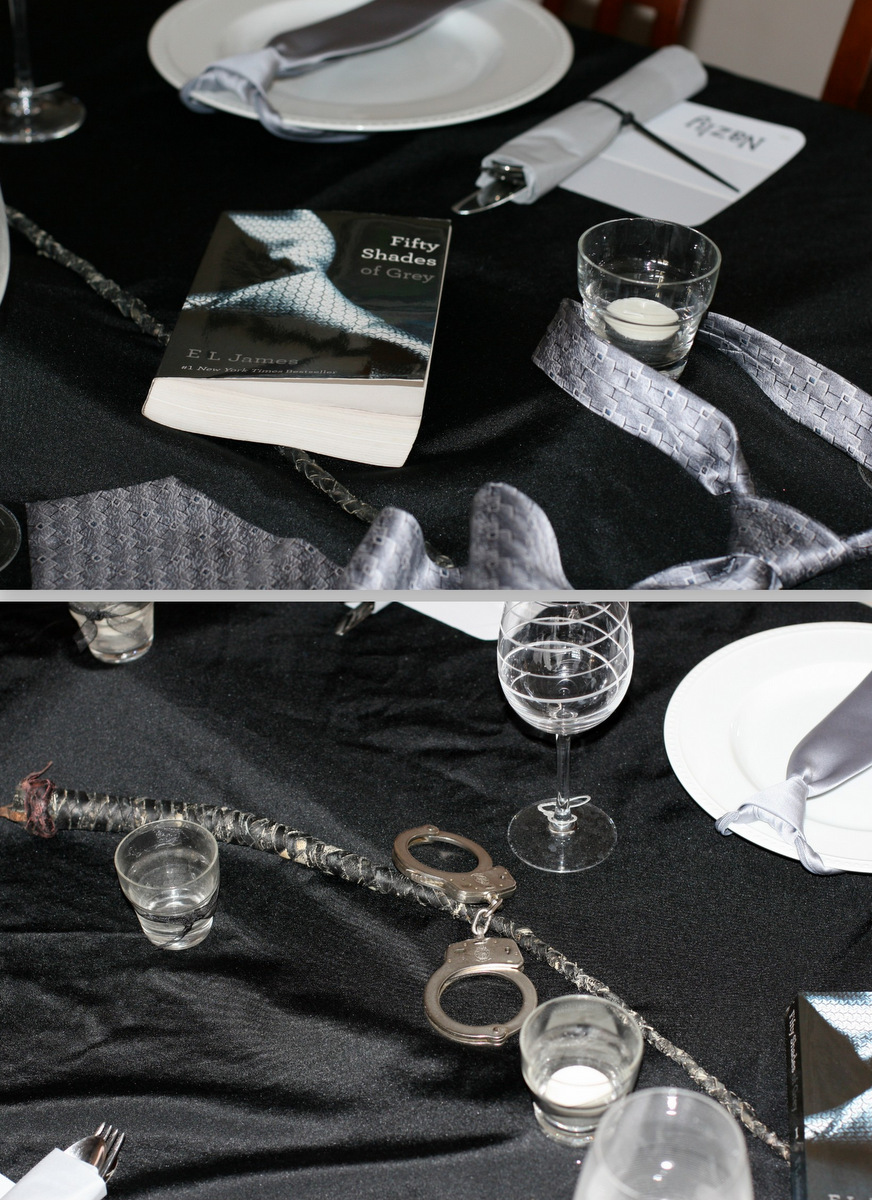 invite and delight fifty shades of fun decor when i think of christian grey i think sophisticated as well as a bit naughty i wanted my decor to reflect this out being over the top sexual