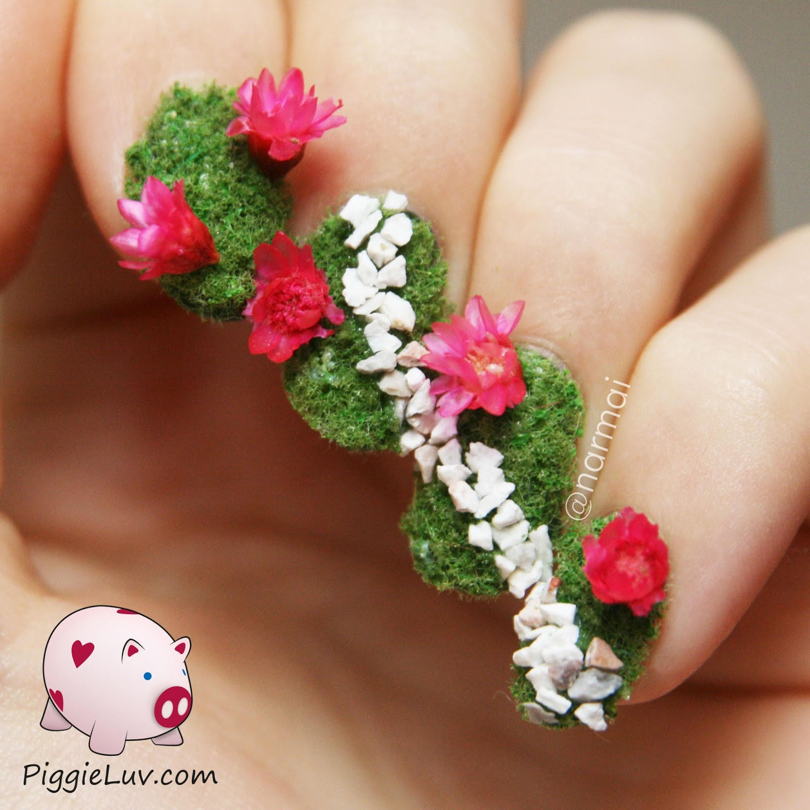 Piggieluv Secret Garden Nail Art Plus Video Tutorial