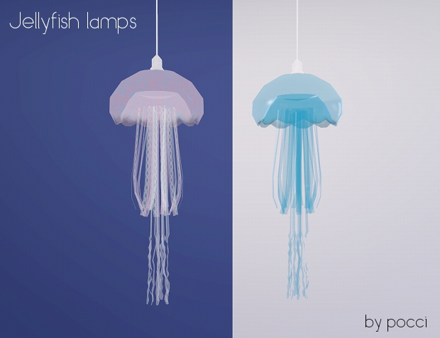 My Sims 3 Blog Jellyfish Lamps By Pocci