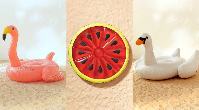Fun Summer Pool Floats Flamingo Watermelon Swan