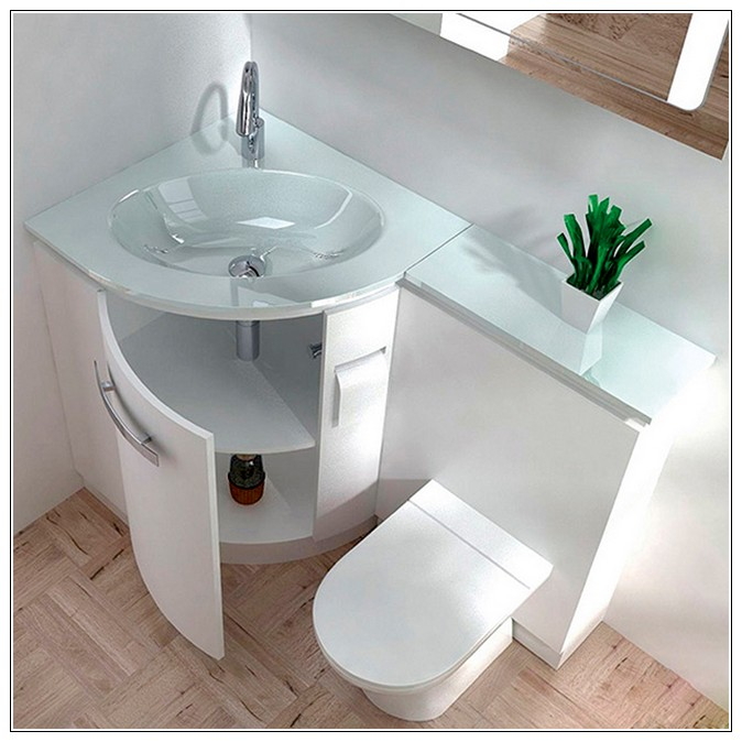 Home decor 25 corner units for small bathroom solutions - Corner toilets for small spaces style ...