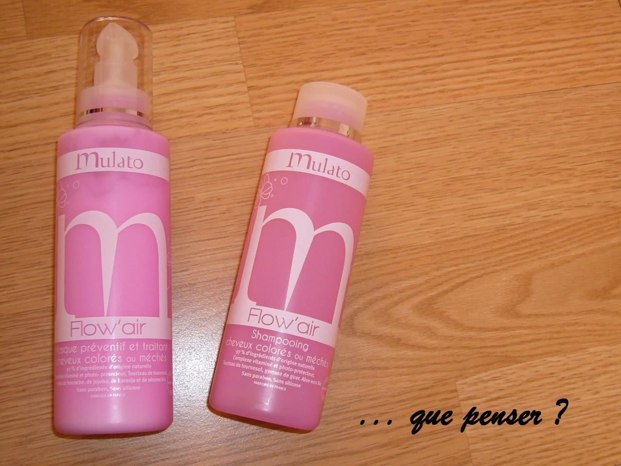 jai reu donc de la marque mulato deux produits de la gamme flowair un shampoing cheveux colors ou mchs et un masque prventif traitant cheveux - Shampoing Cheveux Colors Sans Silicone