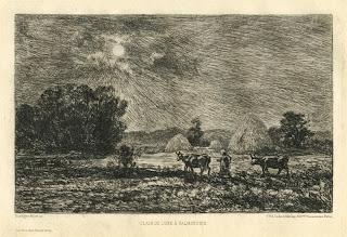 Clair de Lune a Valmondois by Charles-Francois Daubigny