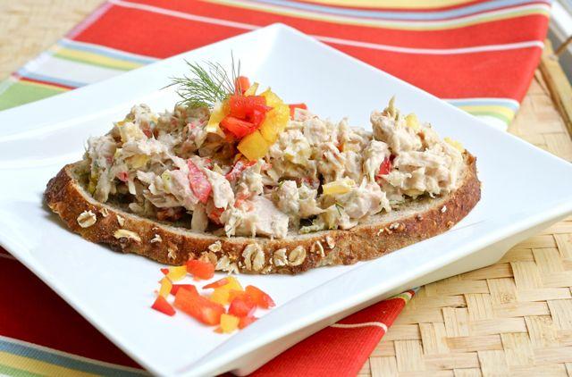 three pepper tuna salad