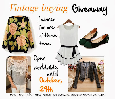 Vintage buying Giveaway on Fashion and Cookies