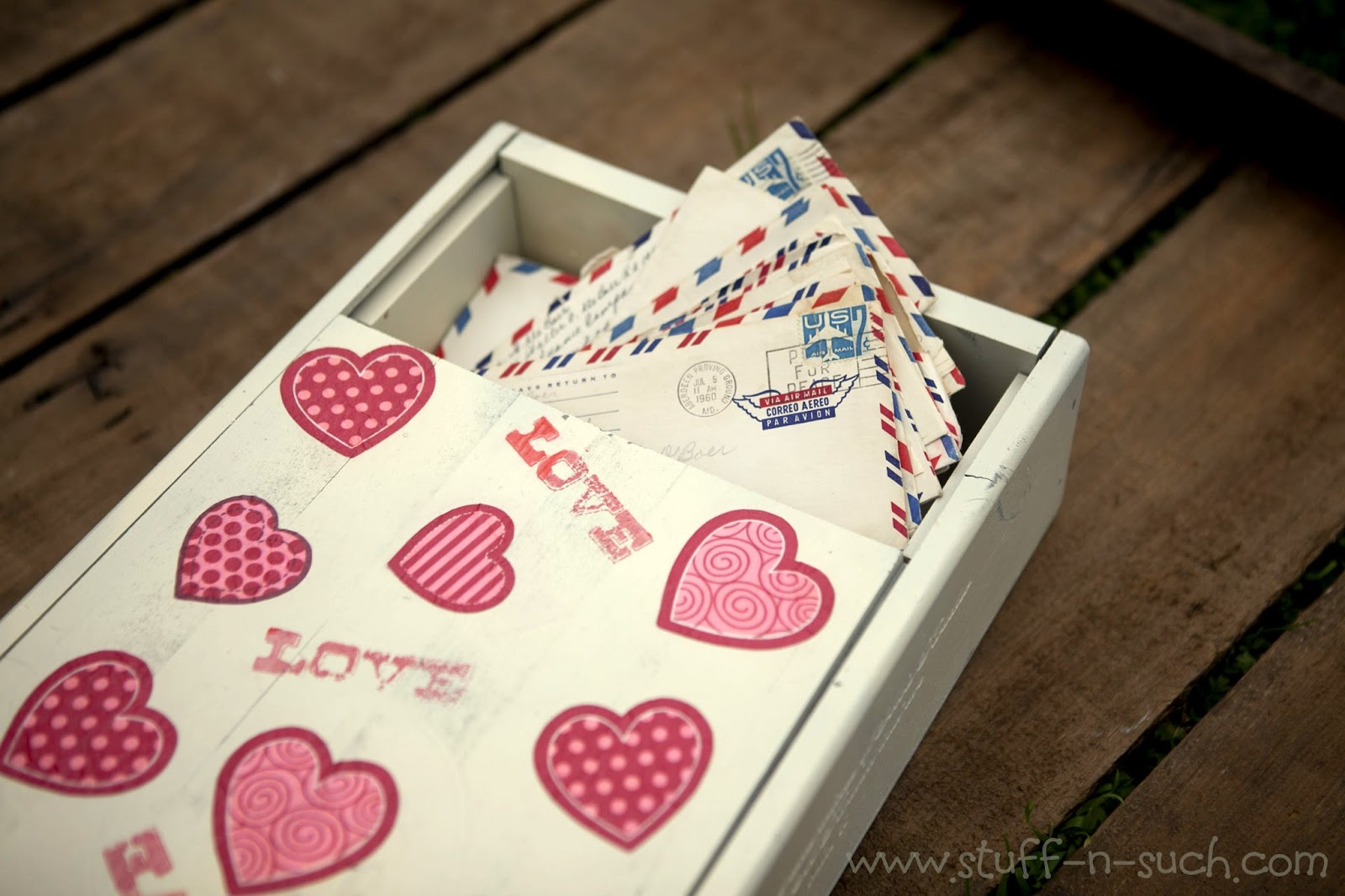 StuffnSuch By Lisa Valentine Love Letter Keepsake Box