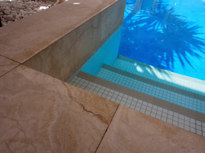 Pool Steps Mosaic Tiles