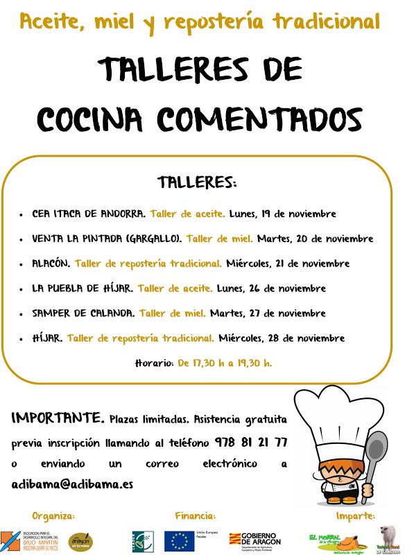 Cea taca talleres de cocina comentados for Taller de cocina teruel
