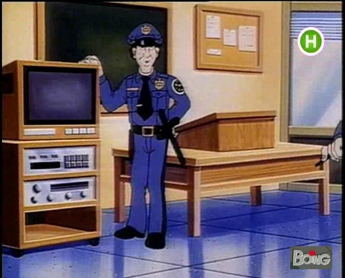 Scuola di polizia cartone animato