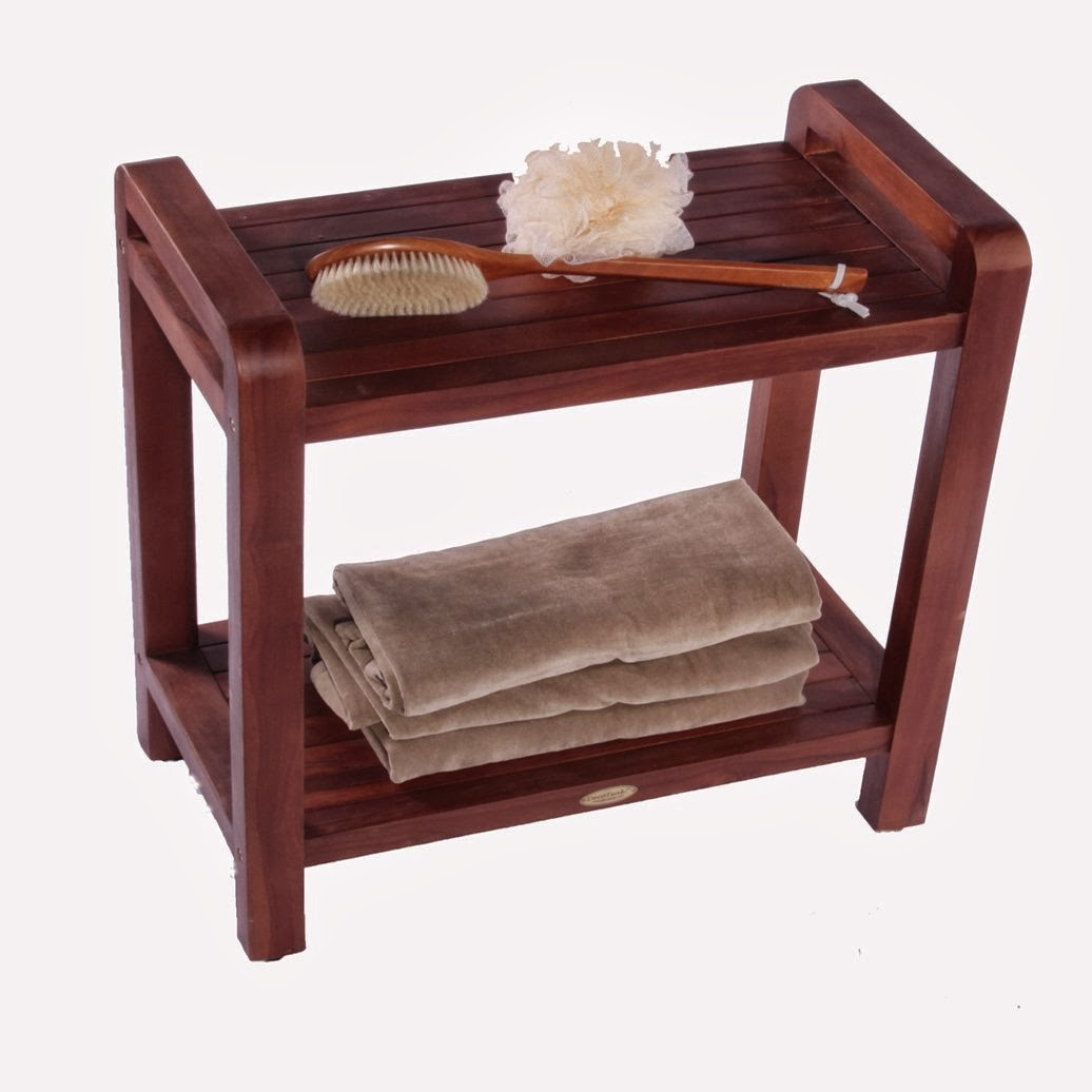 Bath Bench With Arms Teak Bathroom Bench Teak Stool Small Bench Large Size Merits Heavy Duty