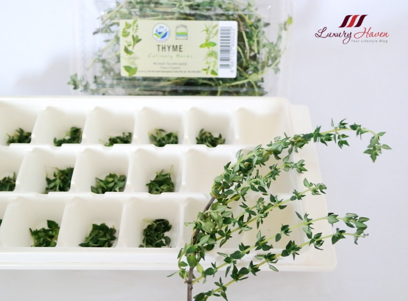 purelyfresh thymes freezing herbs in olive oil tips