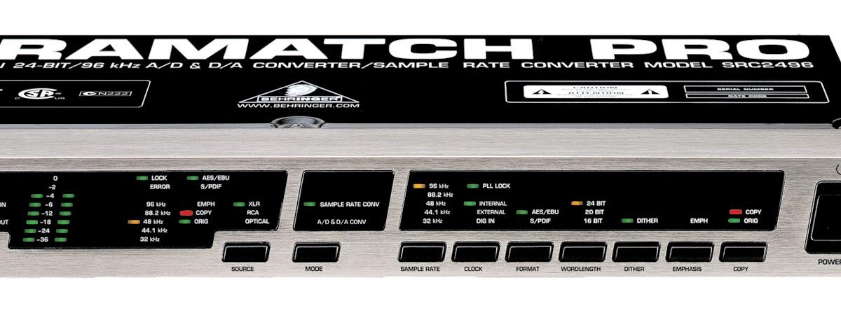 behringer ultramatch pro src2496 manual