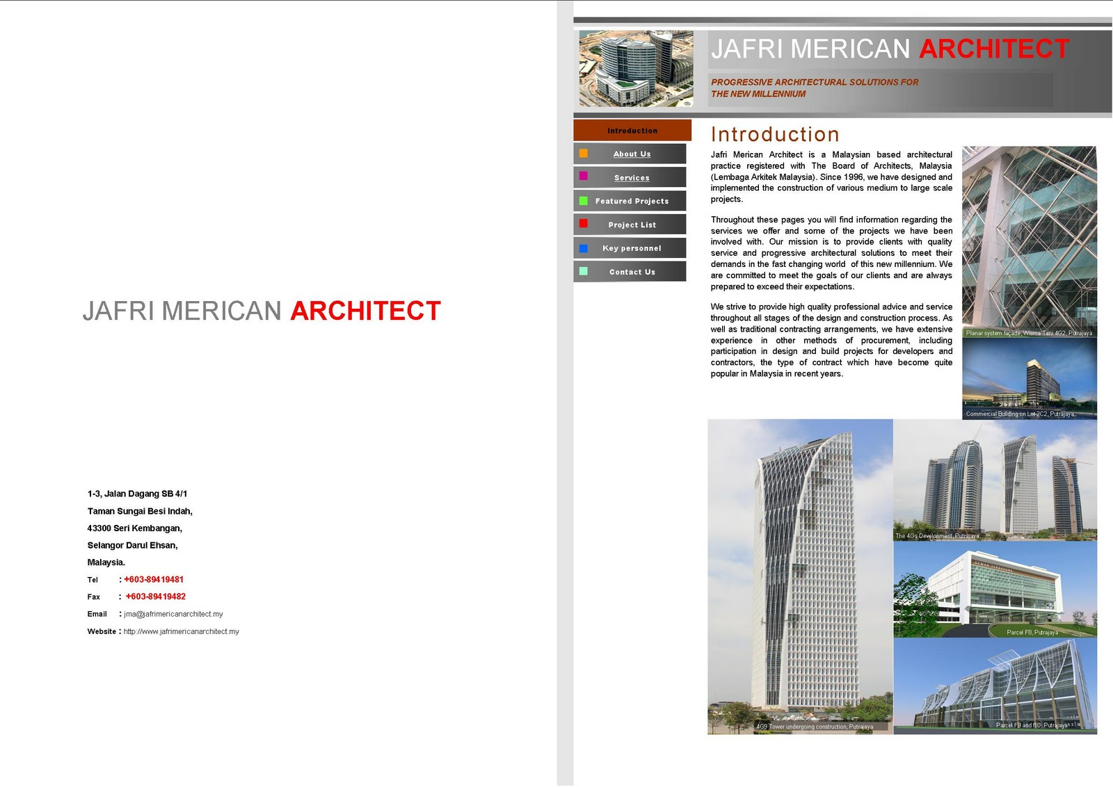 jafri merican architect cv introduction jafri merican architect is a n based architectural practice registered the board of architects lembaga arkitek