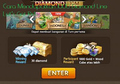 Cara Mendapatkan 1000 Diamond Line Let's Get Rich
