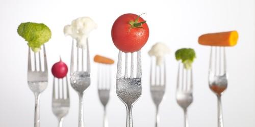 fourchette, cuillière, manger, équilibré, calories