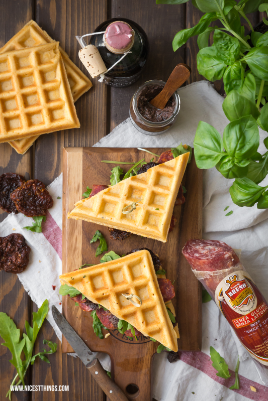Waffle Sandwiches with Salsiccia