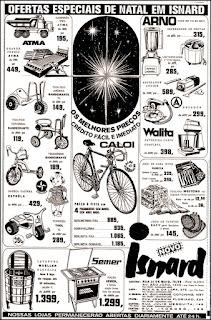 Lojas Isnard; eletro domésticos; bicicletas; anos 70.  década de 70. os anos 70; propaganda na década de 70; Brazil in the 70s, história anos 70; Oswaldo Hernandez;