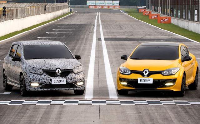 Novo Renault Sandero R.S. x Mégane R.S.
